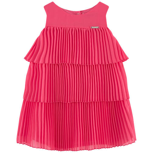 Розовое Платье С Плиссированной Юбкой