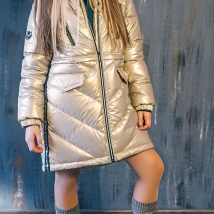 Пальто для девочек GnK 3С-827 золотое
